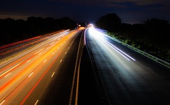 M6 by Night (The Crewe Chronicler) Tags: lighttrail light lighttrails trails headlights taillights m6 motorway highway canon canon7dmarkii cheshire night nighttime longexposure