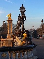 Paris France - Pont Alexandre III - Grand Palais in the background (Onasill ~ Bill Badzo - 67 M) Tags: paris france pont alexandra iii grand palais background momentumental heritage historic bridge gold sculpture streetlights seine river champselysees eiffel tower ornate french monument historique beaux arts nouveau lamps cherbs nymphs winged horses tsar alexander