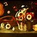 Still Life with melon and mushrooms in a basket (c.1660-1670) - Josefa de Óbidos (1630-1684)
