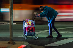 The Weight (Rick Del Carmen) Tags: night colour nightstreetphotography woman losangeles losangelesstreetphotography