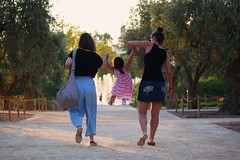 "They will never let you ""fall""... (Michael Kalognomos) Tags: canoneos5dmarkiii canon photography ef70210mmf3545usm streetstories streetphotography streetlife bokeh depthoffield dof girl mother child daughter fountain snfccstavrosniarchosfoundationculturalcentre women athens greece game childhood memories"