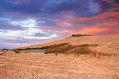 Senza Titolo (Enzo Ghignoni) Tags: cielo collina case estate tuscany italy colori paesaggio
