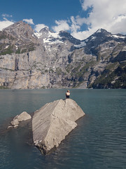 Lake with a view (chriscom) Tags: switzerland kandersteg berneroberland summer lake rock mountains