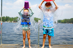Cooler (Knuckle)Heads Prevail (s.w.Lepak) Tags: knuckleheads bucketchallenge water fastshutterspeed stayingcool crookedlake wisconsin ocontocounty