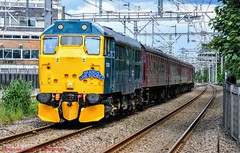 31128 @ Huyton (A J transport) Tags: class31 diesel locomotive railtour 31128 nemesis rail d5546 england railway trains track nikkon d5300 dlsr br sunny ohl
