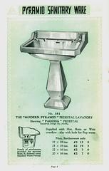The Modern Pyramid. Alfred Johnson & Sons (growlerthecat) Tags: tradecatalogue sanitaryware catalogue bathrooms alfredjohnson