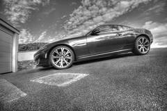 Wide Angle (Siula85) Tags: car jaguar blackandwhite driveway fujixt1 fujinonxf1024mm kazgreen kjgimages siula85 2019 projectsunday week27 wideangle