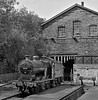 On Shed (garstangpost.t21) Tags: haworth kwvr steamlocomotive monochrome