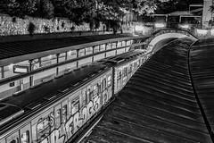 Athens (Out Of The Map) Tags: athens greece blackandwhite bw absoluteblackandwhite train transport travel europe europetrip metro modern noir blanc blanco negro