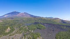 Luftbild vom Vulkan Chinyero auf Teneriffa, Spanien