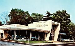 Raymond P. Scott, Olds & Rambler, Wynnewood PA, 1967 (aldenjewell) Tags: raymond scott wynnewood pa pennsylvania oldsmobile rambler dealership 1967 postcard