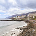 Black sand beach Playa de la Arena on Tenerife, Spain
