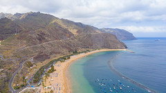 "Aerial view of the beach Playa de las Teresitas beach on Tenerife, Spain (dronepicr) Tags: hike allgemein city wanderlust natur kanaren archipelago ""aerialviewtravel"" drone wandern mavic island stadt kanarische inseln teneriffa länderstädte insel geotagged landscape schönste strände luftbild strandurlaub bay spain sightseeing tenerife aerial ferien uav hiking wanderurlaub la gomera foto beach macaronesia strand travel urlaub luftbildreise ""birdseyeview"" canary islands vogelperspektive drohne holiday spanien ballermann"