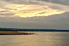 Wide beach (mmichalec) Tags: beach plaża sea water woda morze gdańsk tricity trójmiasto poland fujifilm sky clouds chmury niebo evening wieczór