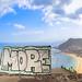 Graffiti next to  the beach Playa de las Teresitas on Tenerife, Spain