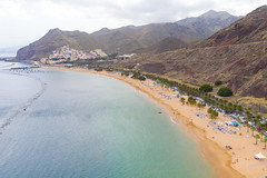 "View from the East of Playa de las Teresitas beach and Anaga Mountains on Tenerife, Spain (dronepicr) Tags: hike allgemein city wanderlust natur kanaren archipelago ""aerialviewtravel"" drone wandern mavic island stadt kanarische inseln teneriffa länderstädte insel geotagged landscape schönste strände luftbild strandurlaub bay spain sightseeing tenerife aerial ferien uav hiking wanderurlaub la gomera foto beach macaronesia strand travel urlaub luftbildreise ""birdseyeview"" canary islands vogelperspektive drohne holiday spanien ballermann"