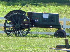 Tractor Display. (dccradio) Tags: middletown md maryland frederickcounty outdoor outdoors outside southmountaincreamery june summer summertime wednesday afternoon wednesdayafternoon goodafternoon farm farming ag agriculture agricultural canon powershot elph 520hs tractor equipment machinery classic antique old vintage classictractor oldtractor vintagetractor antiquetractor oliver fence grass field greenery ground whitefence