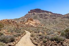 Mount Guajara Wanderweg im Teide National Park on Tenerife, Spain