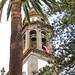 Bell tower in the Cathedral de Nuestra Señora de los Remedios (Catedral de la Laguna) in San Cristóbal de La Laguna on Tenerife, Spain
