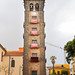 Bell tower in the church Iglesia de la Concepción in San Cristóbal de La Laguna on Tenerife, Spain