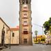 Glockenturm in der Kirche Iglesia de la Concepción in San Cristóbal de La Laguna auf Teneriffa, Spanien