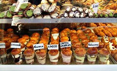 Temptation (Peter Denton) Tags: italy italia naples napoli street cakes pastries snack shopwindow food city europe europa ©peterdenton canoneos100d pasticcino nocciola cocco cremaamarena pistacchio