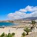 Luftbild vom Strand Playa de Torviscas in Costa Adeje auf Teneriffa, Spanien