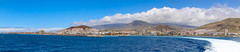 Panoramic view of the town Los Cristianos on Tenerife, Spain