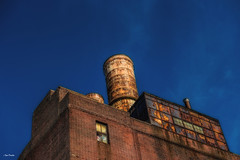 While Here. (Igor Danilov Philadelphia) Tags: rust old steam plant philadelphia willow street blue sky abandoned brick contrast catchy memorable tube pipe roof vent history