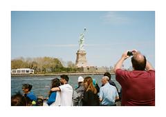 FILM - The man who shot Liberty (fishyfish_arcade) Tags: 35mm analogphotography canonsureshotz135 filmphotography filmisnotdead istillshootfilm kodak newyork portra400 analogcamera compact film