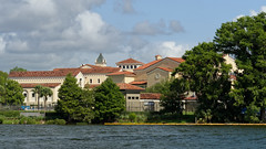 Rollins College, from Lake Virginia (Whidbey LVR) Tags: lyle rains lylerains olympus em5ii florida orlando winter park mansion house estate expensive lakefront waterfront