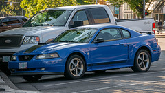 2003 Ford Mustang Mach 1 (mlokren) Tags: 2019 car spotting photo photos photography pnw pacnw pacific northwest oregon usa automobile automotive vehicle outdoors motorcraft 2003 ford mustang mach 1 coupe azure blue rwd v8 performance pony muscle