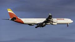 EC-JBA_JFK_Landing_22L (MAB757200) Tags: iberia a340642 ecjba joaquinrodrigo aircraft airplane airlines airbus airport jetliner landing runway22l jfk kjfk