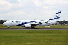 4X-EKH Boeing 737-85PW El Al Israel Airlines MAN 07JUL19 (Ken Fielding) Tags: 4xekh boeing b73785pw elalisraelairlines aircraft airplane airliner jet jetliner aviation