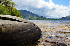 2019-06-07 06-22 Irland 573 Killarney, Muckross Lake Walk (Allie_Caulfield) Tags: foto photo image picture bild flickr high resolution hires jpg jpeg geotagged geo stockphoto cc sony alpha 77 sommer summer irland ireland eire killarney wanderung hike muckross house kerry lough leane lake trail walk beach see strand shore