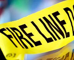 Danger - Keep Back (helensaarinen) Tags: macromondays danger firefighters scenetape
