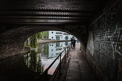 Canal stroll... (PhredKH) Tags: 2470mm canoneos5dmkiii canonphotography ef2470mmf4lisusm fredkh london londonphotographer photosbyphredkh phredkh splendid cityoflondon people silhouettes peoplewatching reflections bridge darknessandlight scenicwater water underneath canal shadows shadowsandlight