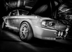 ELEANOR (Dave GRR) Tags: mustang ford eleanor custom racing car supercar retrocar vintage old carsncoffee toronto 2019 olympus monochrome mono black white