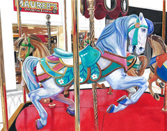 Maurer's Vintage Toys (GayleMaurer006) Tags: carousel horse pony toy toys children marrygoround carnival ride