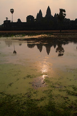 Morning Sun Over Angkor Wat (peterkelly) Tags: digital canon 6d asia southeastasia indochinaencompassed gadventures cambodia angkor angkorwat morning dawn sunrise reflection tree pond water centralstructure suryavarmanii