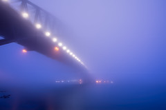 ..Bridge to far.. (SpaceCadet37) Tags: sydney australia fog mist bridge canon ocean sunrise longexposure magic mariobekes mariobekesphotography