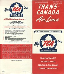 Trans-Canada Air Lines 1953 timetable (Brit 70013 fan) Tags: transcanadaairlines transcanada air lines airline tca canadiannational aircanada timetable continentaltimetable 1953