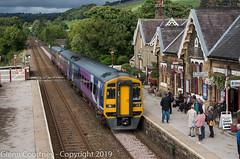 Northern Class 158 arrives at Settle with downbound train (Glenn Courtney) Tags: settle settlecarlisle england uk unitedkingdom