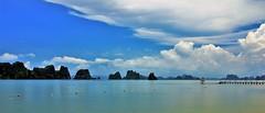 Bai Tu Long Bay (khoitran1957) Tags: beach bay sea seascape cloudy sky travel 219 ultrawide widescreen wide wallpaper landscape