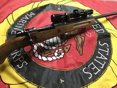 .358 Mauser - Rebarreled and blued.