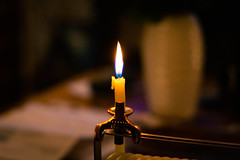 Candle Flame (BeerAndLoathing) Tags: candle usa denver rp canonrf24105mmf4lisusm bokeh colorado canoneosrp flame canon 2019 spring april night