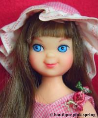 VINTAGE MOD TUTTI BRUNETTE BARBIE DOLL w/ ORIGINAL DRESS & HAT OUTFIT (laika*2008) Tags: vintage mod tutti brunette barbie doll w original dress hat outfit mattel japan