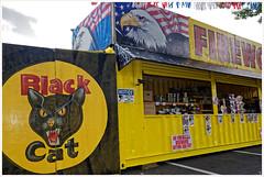 Black Cat (Rex Block) Tags: nikon d750 dslr 1835mm wide zoom burke virginia fireworks roadside stand july summer americana blackcat ekkidee