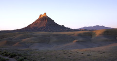 Dawn at Factory Butte (Jeff Mitton) Tags: factorybutte henrymountains utah coloradoplateau dawn sunrise landscape scenic mancosshale earthnaturelife wondersofnature