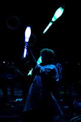 Reflejos. (B.e.l.e.k) Tags: circo circus artecircence circence blue artecallejero chile ledlights leds like4like follow4follow latinoamerica masterpiece